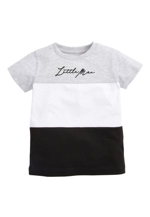 MONOCHROME SHORT SLEEVE COLOURBLOCK T-SHIRT (3MTHS-7YRS) - Print T-shirt - grey