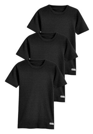 BLACK 3 PACK RIB T-SHIRTS (1.5-16YRS) - T-shirt basic - black