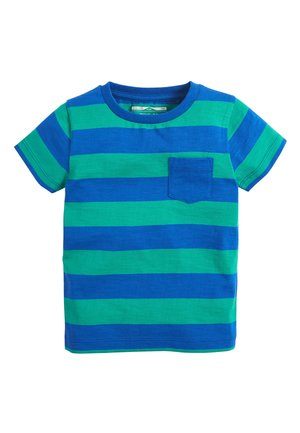 BLUE/GREEN SHORT SLEEVE STRIPE T-SHIRT (3MTHS-7YRS) - Print T-shirt - blue