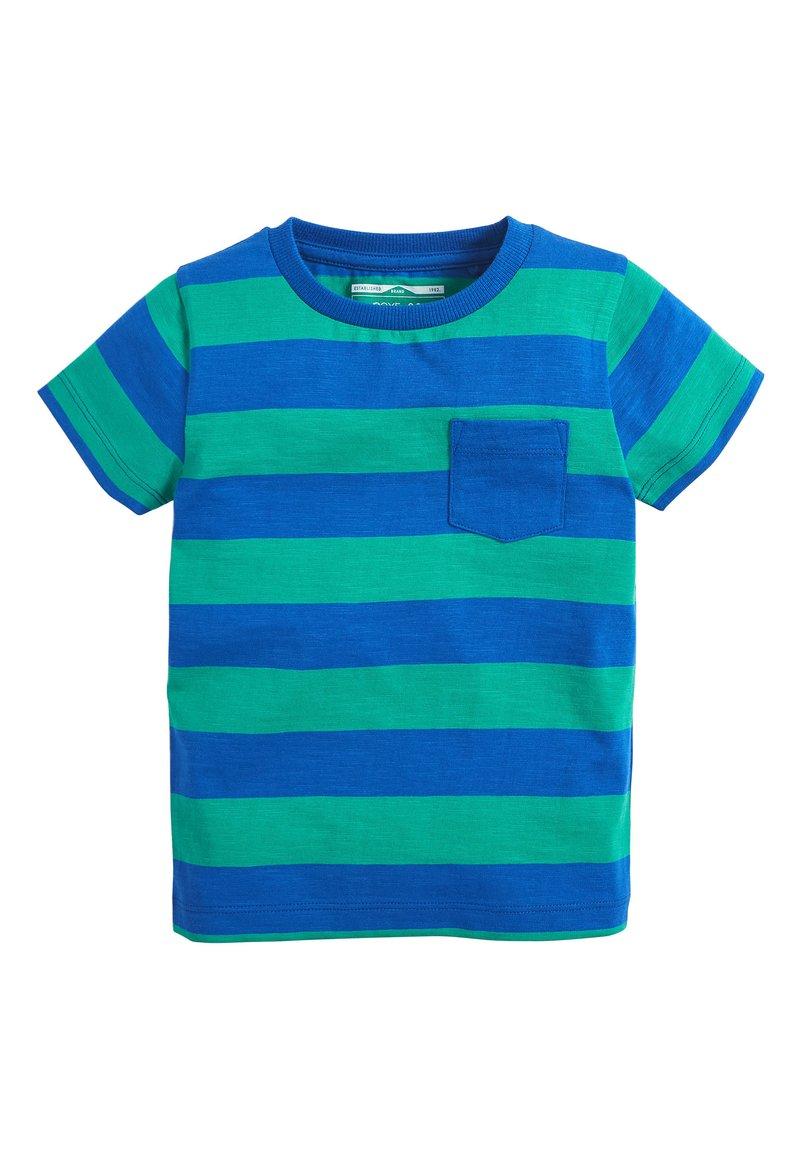 Next - BLUE/GREEN SHORT SLEEVE STRIPE T-SHIRT (3MTHS-7YRS) - Print T-shirt - blue