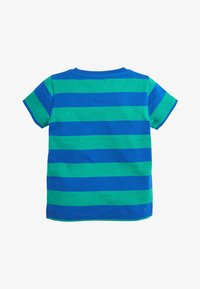Next - BLUE/GREEN SHORT SLEEVE STRIPE T-SHIRT (3MTHS-7YRS) - Print T-shirt - blue - 1