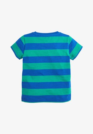 BLUE/GREEN SHORT SLEEVE STRIPE T-SHIRT (3MTHS-7YRS) - T-shirt print - blue