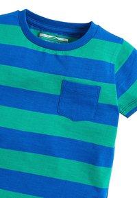 Next - BLUE/GREEN SHORT SLEEVE STRIPE T-SHIRT (3MTHS-7YRS) - Print T-shirt - blue - 2