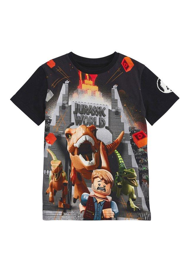 BLACK LEGO® JURASSIC WORLD T-SHIRT (4-12YRS) - Camiseta estampada - black