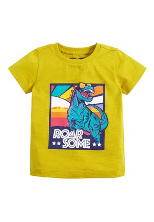 CITRINE SHORT SLEEVE DINO T-SHIRT (3MTHS-7YRS) - Print T-shirt - yellow