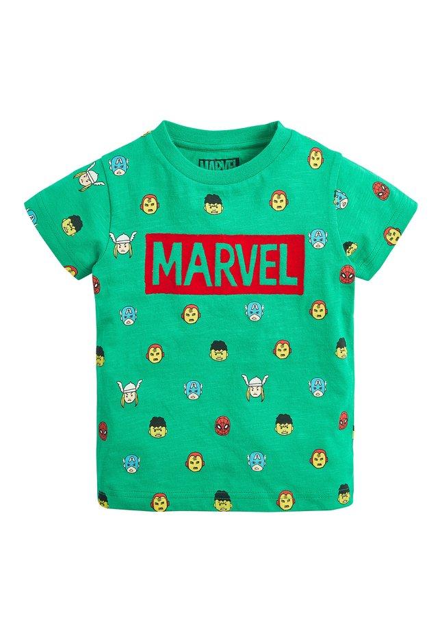 GREEN MARVEL ALL OVER PRINT T-SHIRT (3MTHS-8YRS) - Print T-shirt - green
