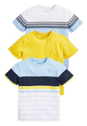 MULTI 3 PACK COLOURBLOCK STRIPE T-SHIRTS (3-16YRS) - Printtipaita - yellow