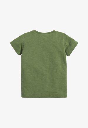 KHAKI SHORT SLEEVE ANIMAL T-SHIRT (3MTHS-7YRS) - Print T-shirt - green