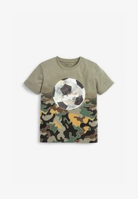 Next - CAMOUFLAGE FOOTBALL SEQUIN CHANGE T-SHIRT (3-16YRS) - T-shirt print - green - 1