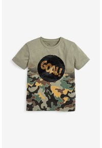 Next - CAMOUFLAGE FOOTBALL SEQUIN CHANGE T-SHIRT (3-16YRS) - T-shirt print - green - 2
