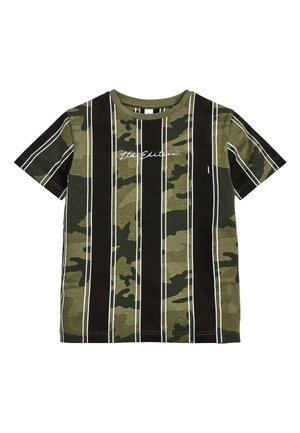 CAMOUFLAGE VERTICAL STRIPE T-SHIRT (3-16YRS) - T-shirt imprimé - green