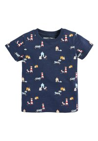 Next - NAVY SHORT SLEEVE SEASIDE T-SHIRT (3MTHS-7YRS) - Print T-shirt - blue - 0