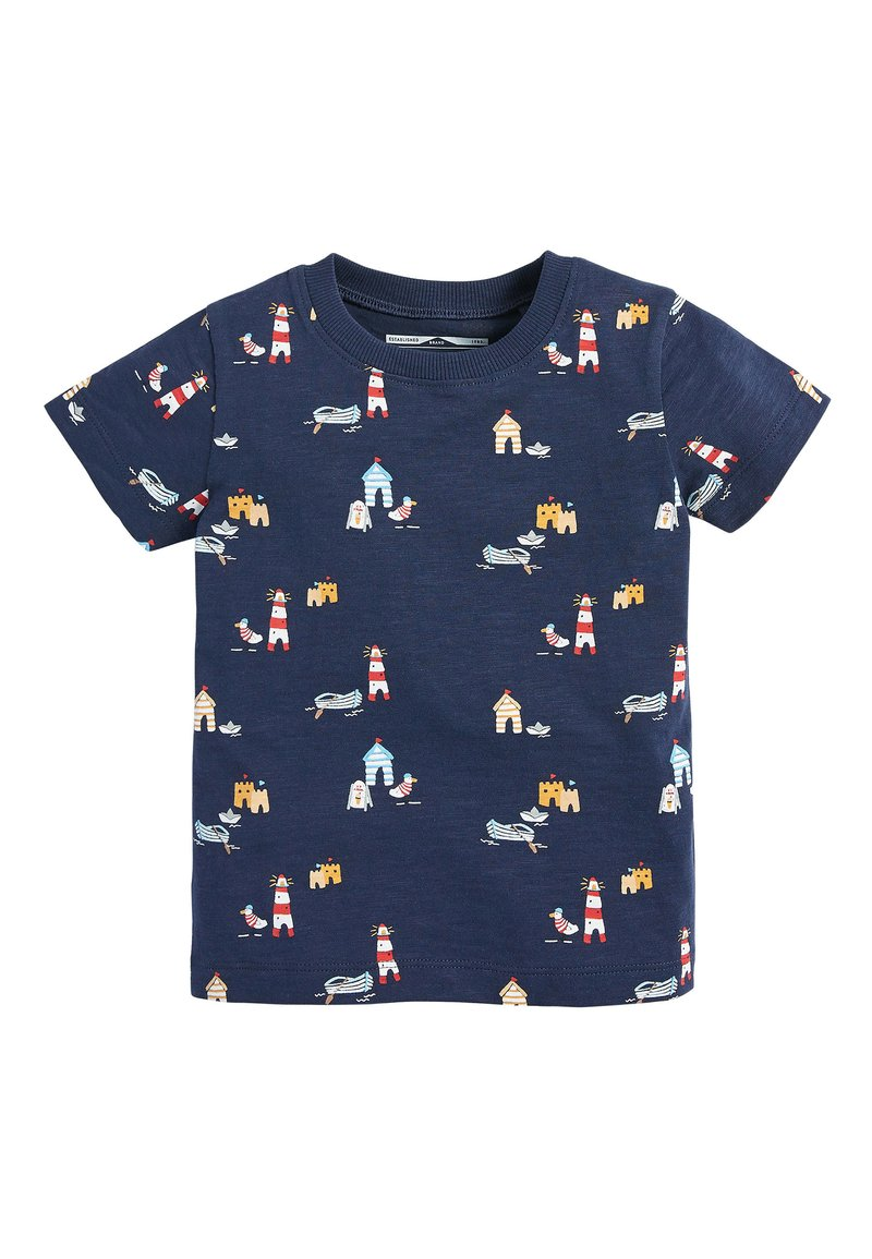 Next - NAVY SHORT SLEEVE SEASIDE T-SHIRT (3MTHS-7YRS) - Print T-shirt - blue