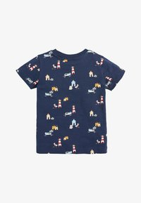 Next - NAVY SHORT SLEEVE SEASIDE T-SHIRT (3MTHS-7YRS) - Print T-shirt - blue - 1