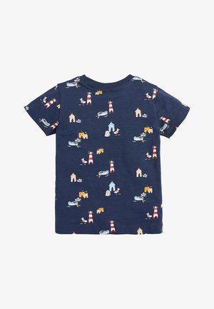 NAVY SHORT SLEEVE SEASIDE T-SHIRT (3MTHS-7YRS) - Triko s potiskem - blue