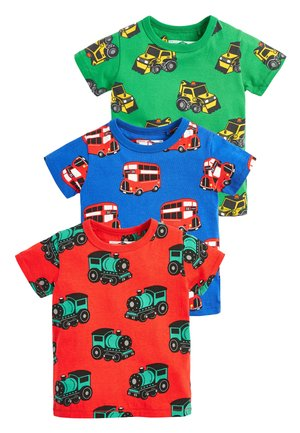 MULTI 3 PACK PRINTED TRANSPORTS T-SHIRTS (3MTHS-7YRS) - Print T-shirt - green