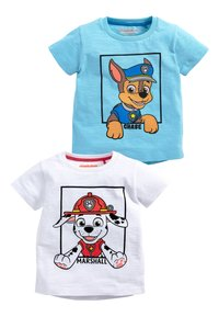 Next - BLUE AND WHITE 2 PACK PAW PATROL SHORT SLEEVE T-SHIRTS (6MTHS-8Y - T-shirt con stampa - blue - 0