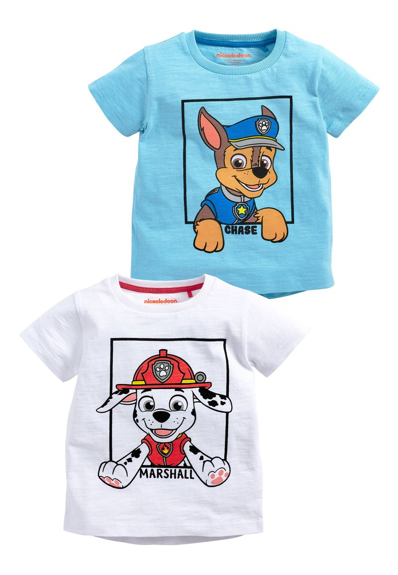 Next - BLUE AND WHITE 2 PACK PAW PATROL SHORT SLEEVE T-SHIRTS (6MTHS-8Y - T-shirt con stampa - blue