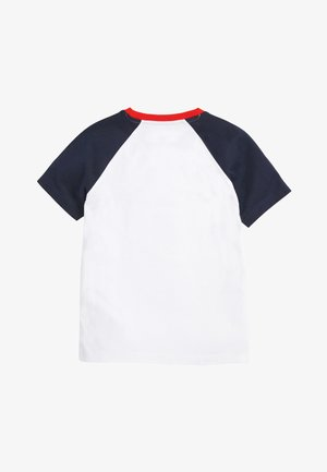 NAVY/WHITE SHORT SLEEVE RAGLAN T-SHIRT (3-16YRS) - T-shirt imprimé - blue