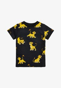 Next - BLACK LION KING ALL OVER PRINT T-SHIRT (3MTHS-8YRS) - Print T-shirt - black - 0