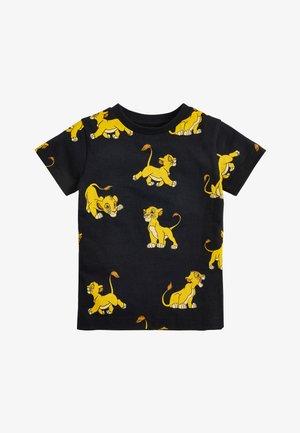 BLACK LION KING ALL OVER PRINT T-SHIRT (3MTHS-8YRS) - Print T-shirt - black