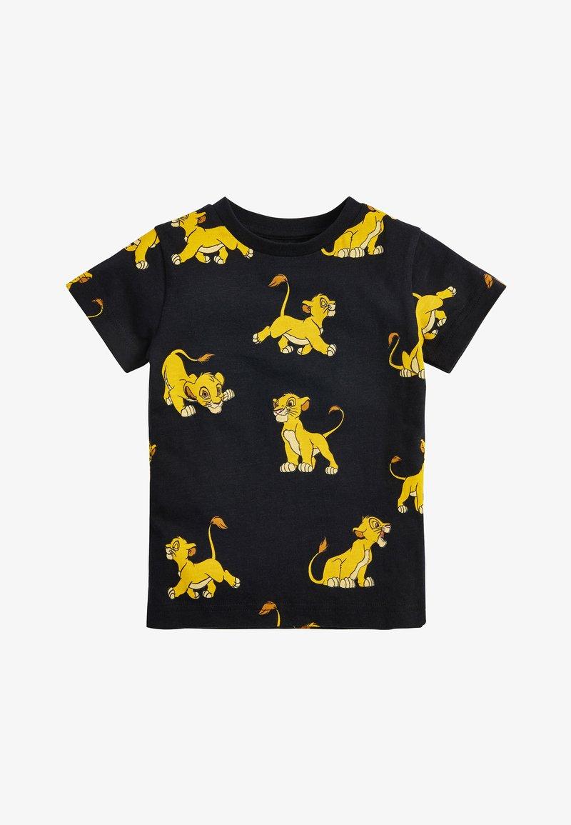 Next - BLACK LION KING ALL OVER PRINT T-SHIRT (3MTHS-8YRS) - Print T-shirt - black