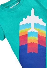 Next - TEAL SHORT SLEEVE AEROPLANE T-SHIRT (3MTHS-7YRS) - Print T-shirt - green - 2