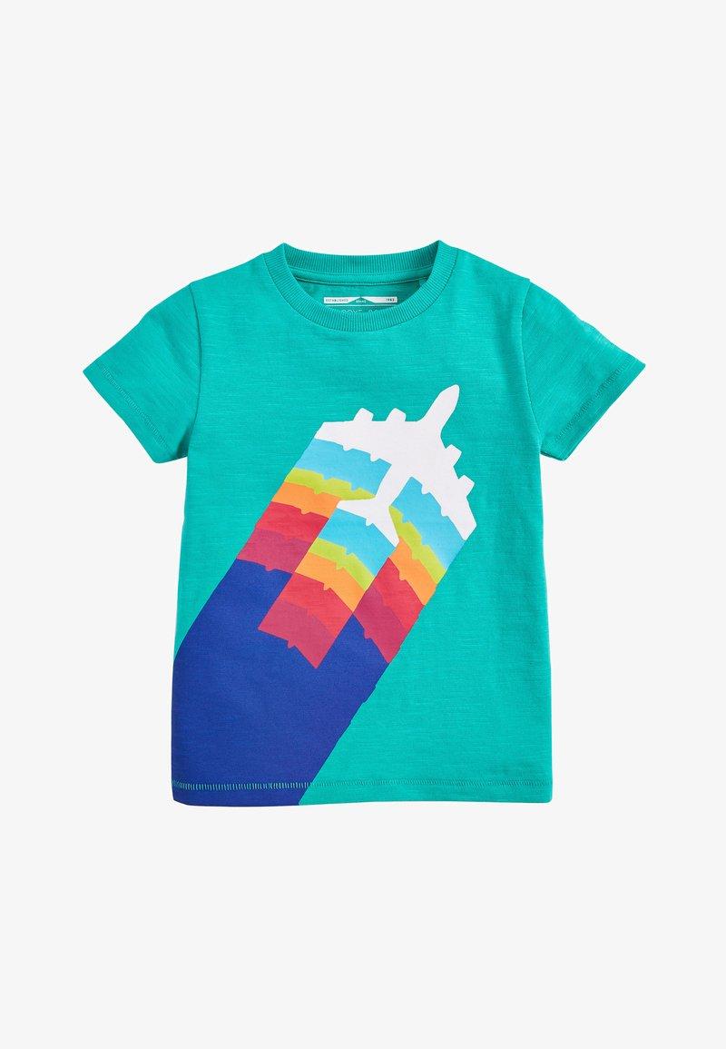 Next - TEAL SHORT SLEEVE AEROPLANE T-SHIRT (3MTHS-7YRS) - Print T-shirt - green