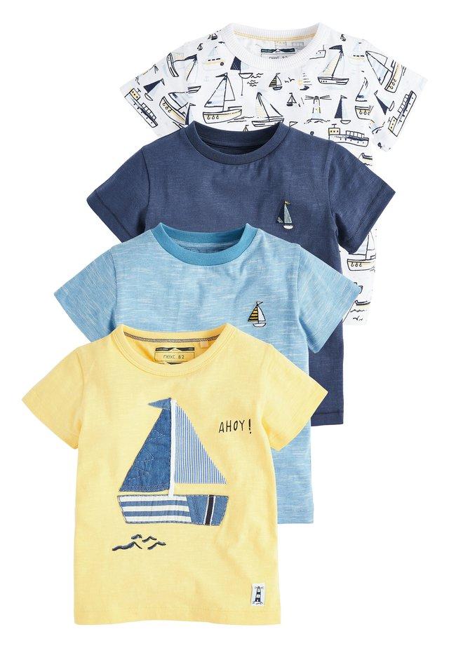 4 PACK - Print T-shirt - yellow
