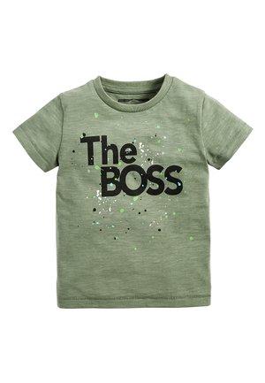 THE BOSS  - Print T-shirt - green
