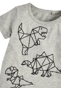 Next - GEO DINO - Print T-shirt - grey - 2