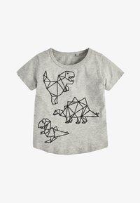 Next - GEO DINO - Print T-shirt - grey - 0