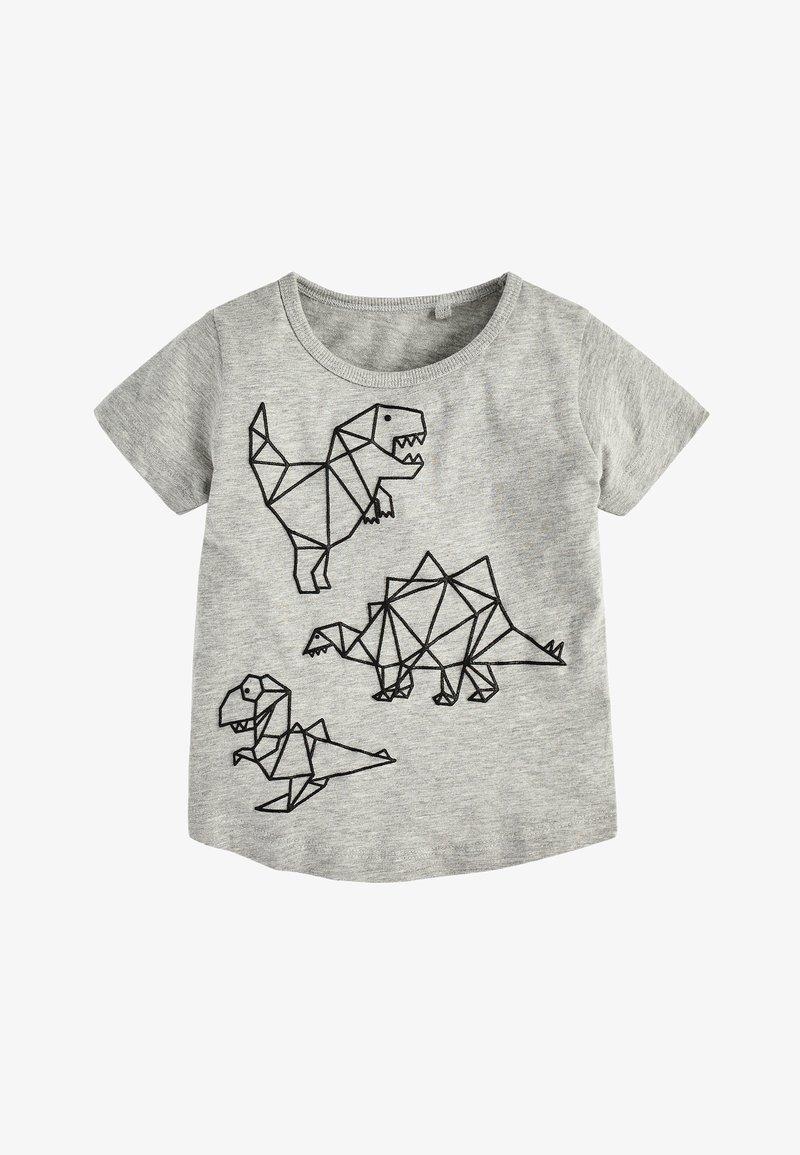 Next - GEO DINO - Print T-shirt - grey
