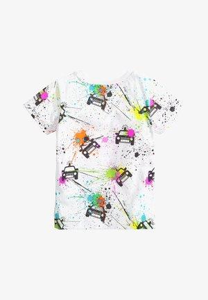 SPLAT PRINTED CARS - Print T-shirt - white