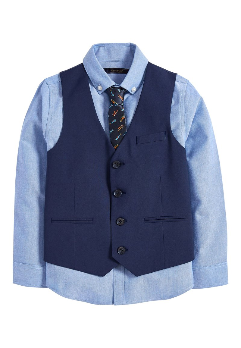 Next - NAVY AEROPLANE WAISTCOAT SET (12MTHS-16YRS) - Vesta do obleku - blue