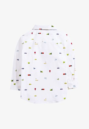 WHITE LONG SLEEVE CAR PRINT SHIRT AND BOW TIE SET (3MTHS-7YRS) - Chemise - white