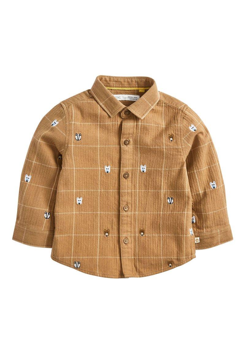 Next - TAN ANIMAL EMBROIDERY SHIRT (3MTHS-7YRS) - Overhemd - beige