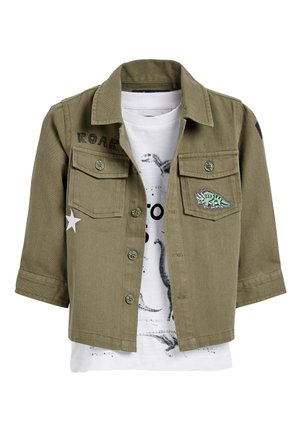 KHAKI LONG SLEEVE DINO SHIRT AND T-SHIRT SET (3MTHS-7YRS) - Overhemd - green