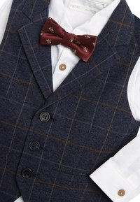 Next - NAVY CHECK WAISTCOAT, SHIRT AND BOW TIE SET (3MTHS-7YRS) - Chaleco - blue - 3