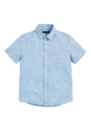 BLUE SHORT SLEEVE LINEN MIX SHIRT (3-16YRS) - Overhemd - blue