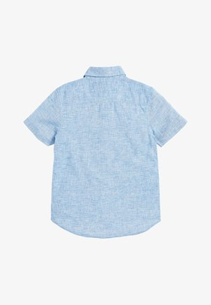 BLUE SHORT SLEEVE LINEN MIX SHIRT (3-16YRS) - Shirt - blue