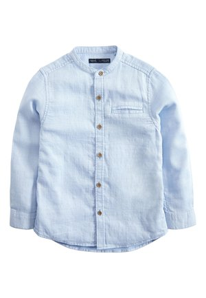 BLUE LONG SLEEVE TEXTURED GRANDAD SHIRT (3-16YRS) - Shirt - blue