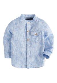 Next - BLUE LONG SLEEVE LINEN MIX GRANDAD SHIRT (3MTHS-7YRS) - Shirt - blue - 0
