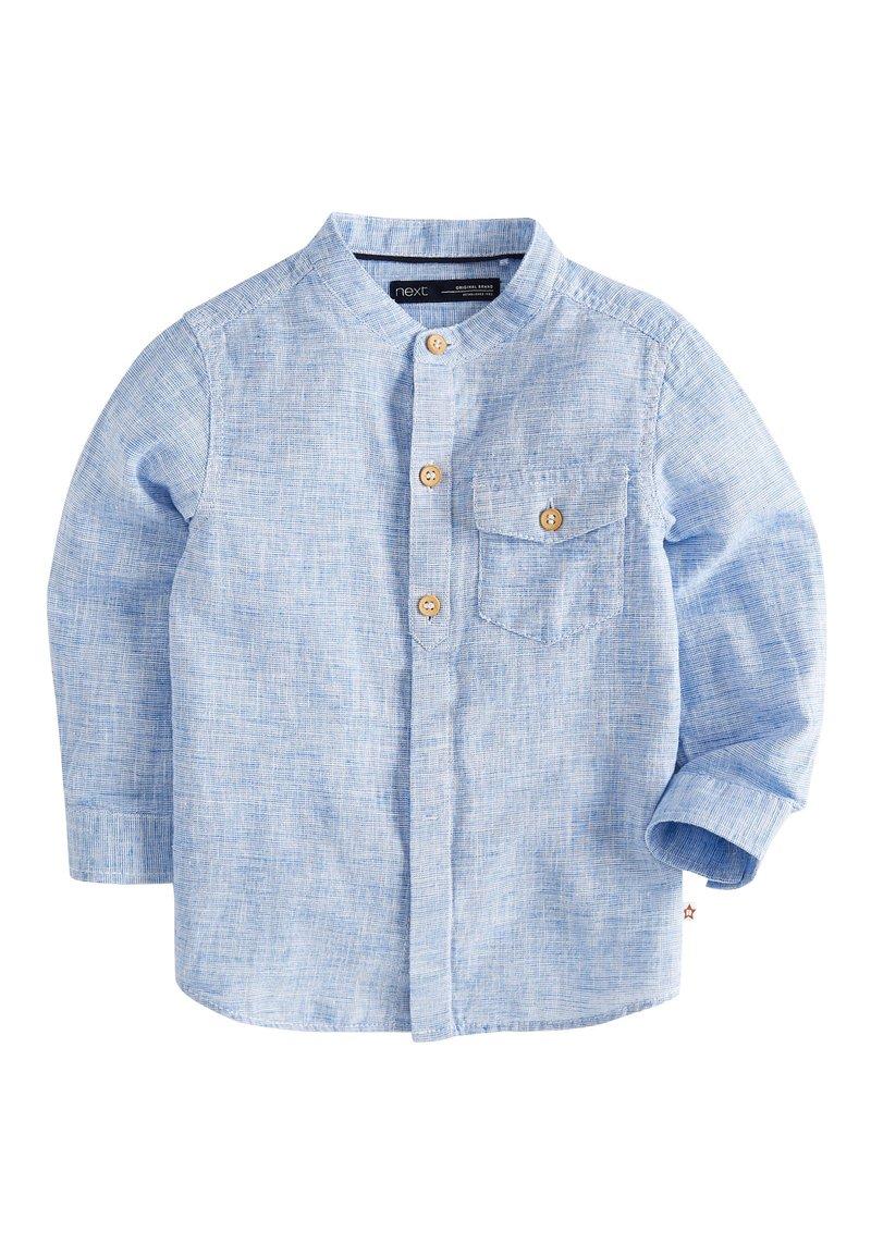 Next - BLUE LONG SLEEVE LINEN MIX GRANDAD SHIRT (3MTHS-7YRS) - Shirt - blue