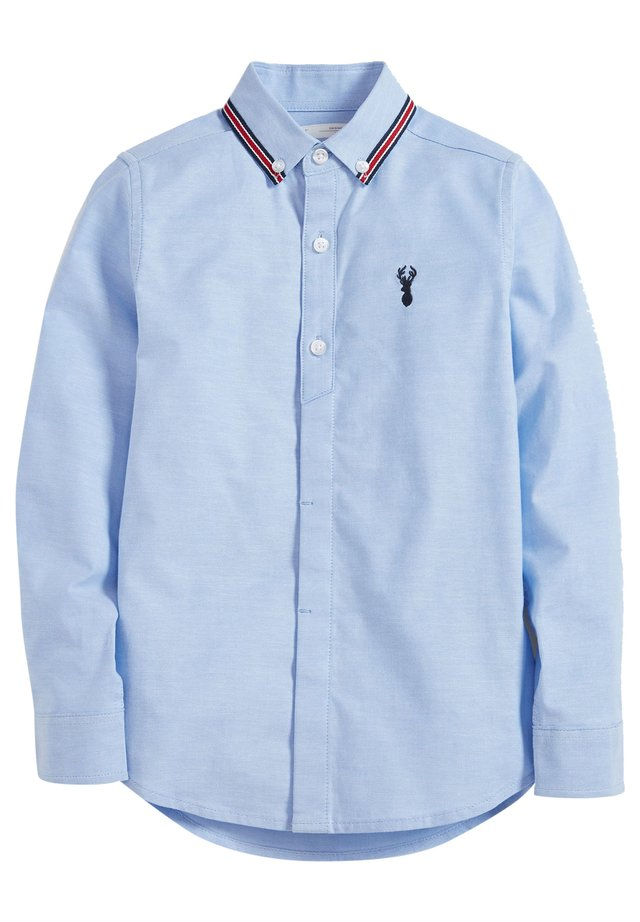 BLUE LONG SLEEVE OXFORD SHIRT WITH TAPED COLLAR (3-16YRS) - Chemise - blue