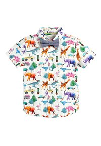 Next - SHORT SLEEVE ANIMAL PRINT - Skjorta - white - 2
