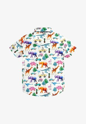 SHORT SLEEVE ANIMAL PRINT - Shirt - white