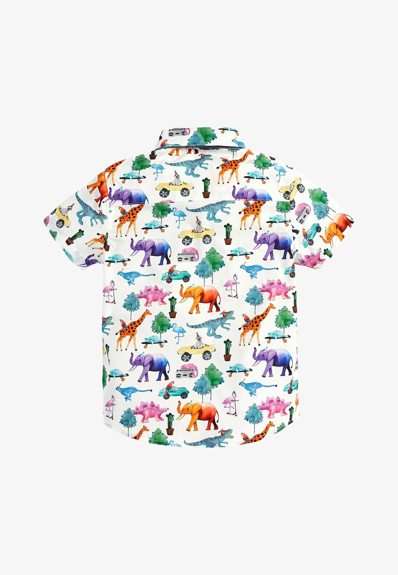Next - SHORT SLEEVE ANIMAL PRINT - Skjorta - white