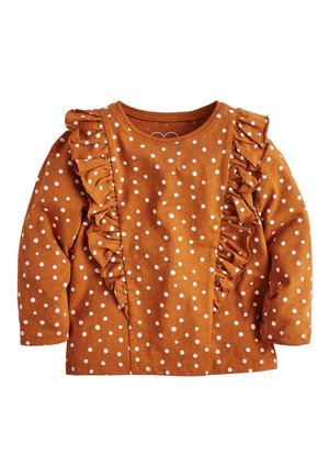 FRILL - Long sleeved top - brown