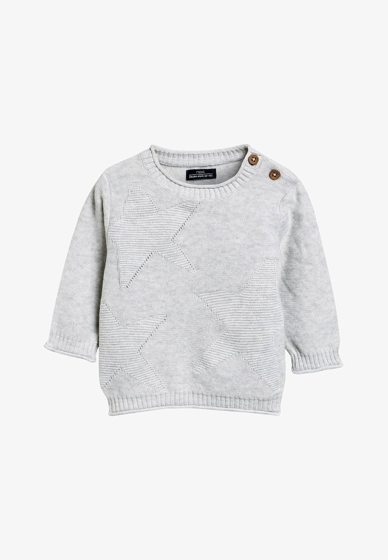 Next - STAR RIPPLE - Strickpullover - grey